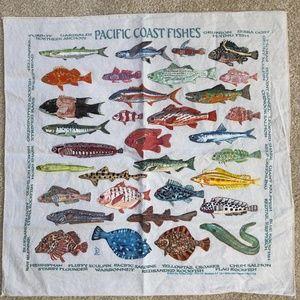 cotton bandana colorful fish of Pacific